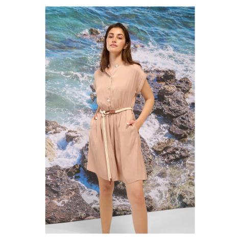 Viskózové šaty s opaskem Orsay
