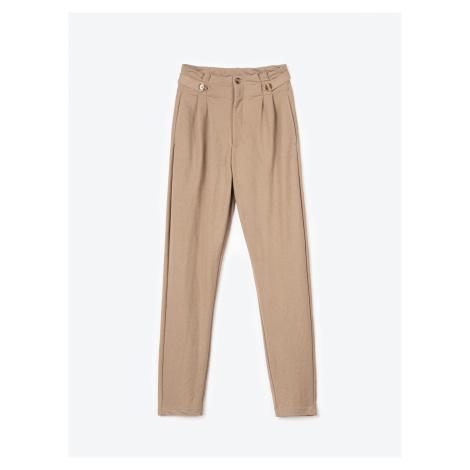 GATE Strečové kalhoty zúženého střihu