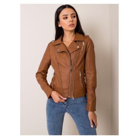 Brown eco leather jacket