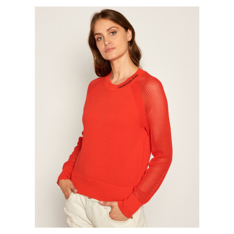 Calvin Klein dámský červený svetřík
