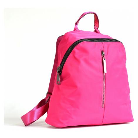 Bright Krásný elegantní batoh A5 látkový s maxi zipem a kapsou růžový, 32 x 13 x 31 (BR17-W117-8