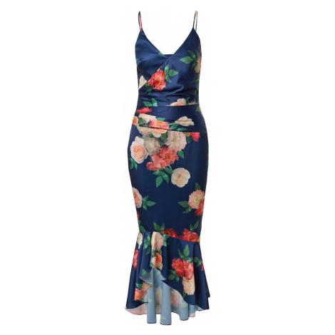 Chi Chi London Společenské šaty námořnická modř / pudrová / melounová / červená / nefritová