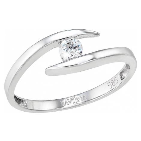 Evolution Group Zlatý prsten 85010.1 bílé zlato s briliantem