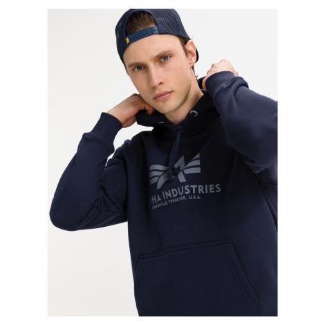 Basic Mikina Alpha Industries Modrá