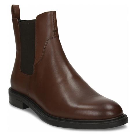 Hnědá kotníková dámská kožená obuv Vagabond