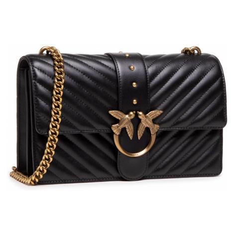 Černá kožená kabelka - PINKO | Love Classic Icon