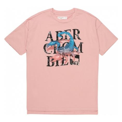 Abercrombie & Fitch Tričko 'CHASE STREET' pink / černá / modrá