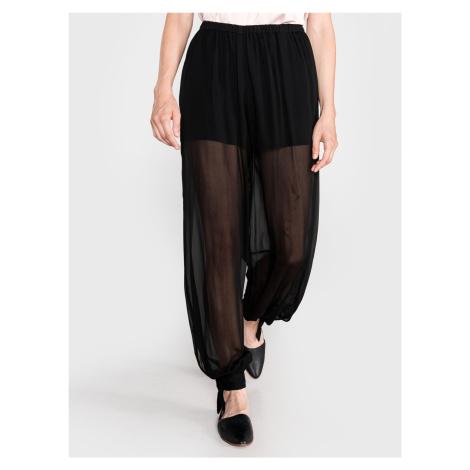 Kalhoty TWINSET Černá