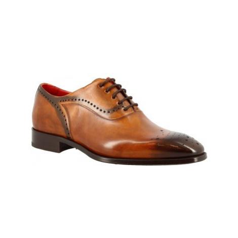 Leonardo Shoes 6387E20 VITELLO DELAVE SIENA Hnědá