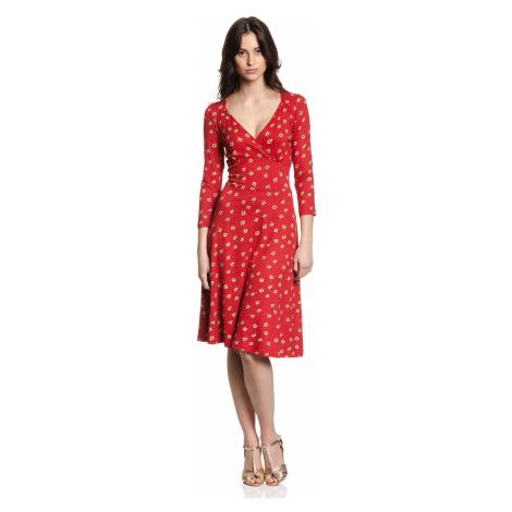Červené šaty s dlouhým rukávem Vive Maria Maria in Love