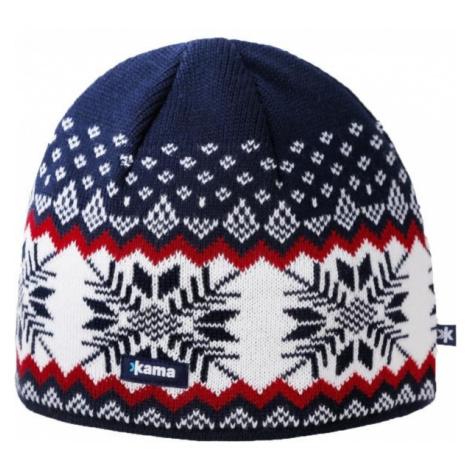 Kama A137-108 ČEPICE MERINO modrá - Pánská pletená čepice