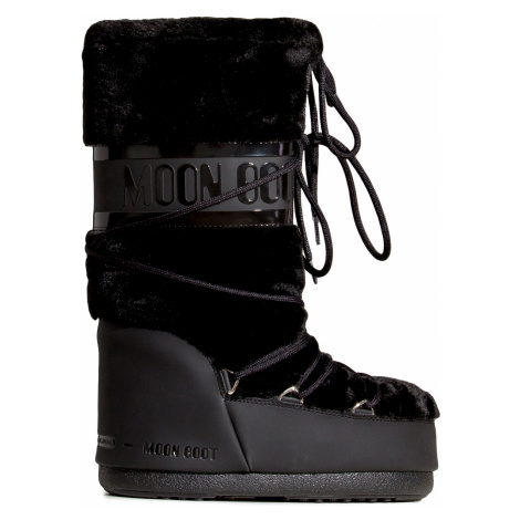 Sněhule Moon Boot CLASSIC FAUX FUR černá