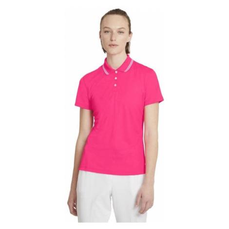 Dámské funkční tričko Nike DRY VCTRY POLO SS SLD OLC W Růžová