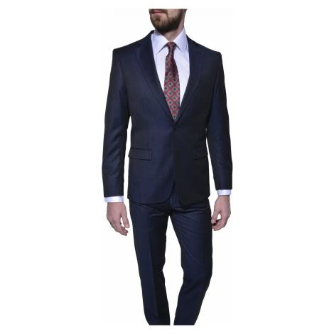 Tmavomodrý vlnený Slim Fit oblek Alain Delon