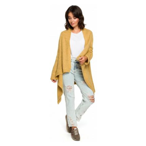 Asymetrický kardigan pletený dlouhý svetr BEWEAR BK017