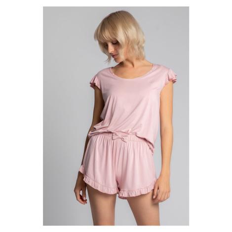 Světle růžové pyžamové kraťasy LA024