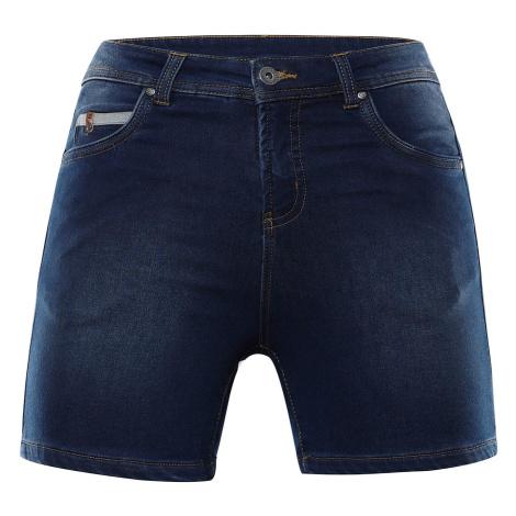 Dámské džínové šortky Alpine Pro THASA - tmavě modrá