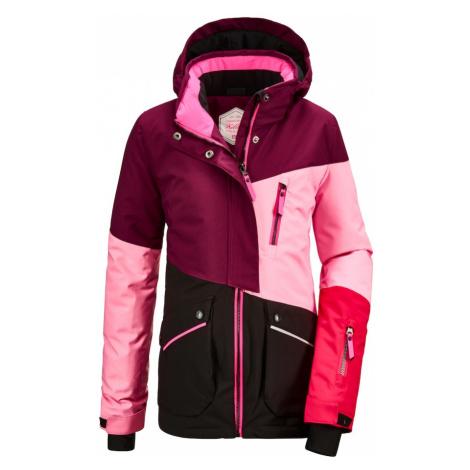 KILLTEC Outdoorová bunda 'Flumet' švestková / světle růžová / svítivě růžová