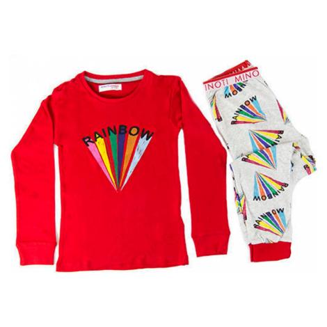 Minoti Pyžamo dívčí, Minoti, HWX132, červená