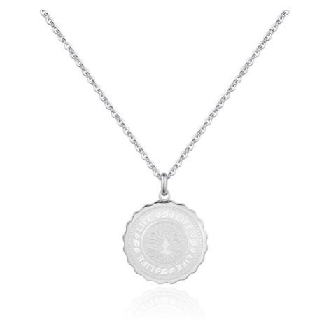 S`Agapõ Ocelový náhrdelník Life Coin SKY07 S'Agapõ