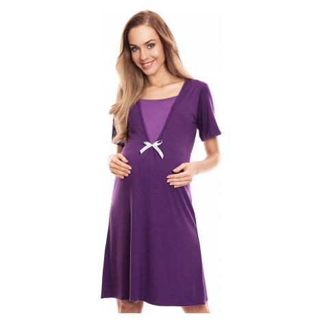 Fialová těhotenská noční košile 0132 PeeKaBoo