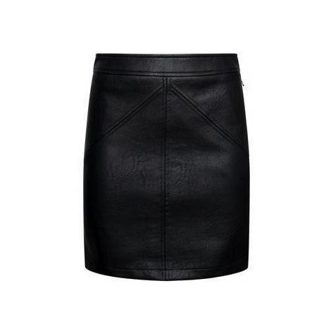 Pepe Jeans Pepe Jeans dámská černá kožená sukně TATI