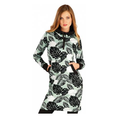 Dámské mikinové šaty s kapucí Litex 7A321 | tisk