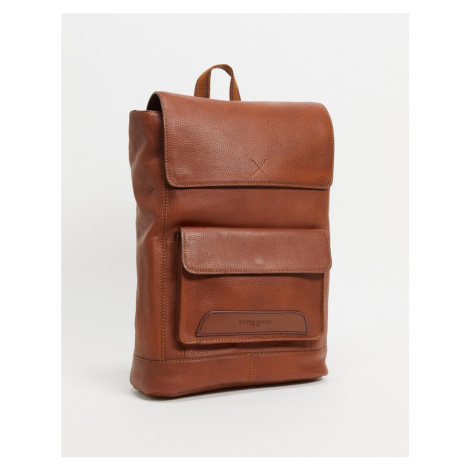 Silver Street scandi smooth leather bag-Brown
