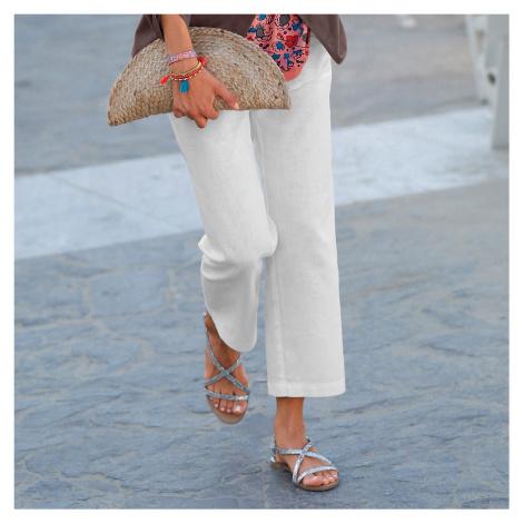 Blancheporte 7/8 kalhoty len/bavlna bílá