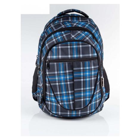 Dětský školní batoh s kostkovaným vzorem BASIC