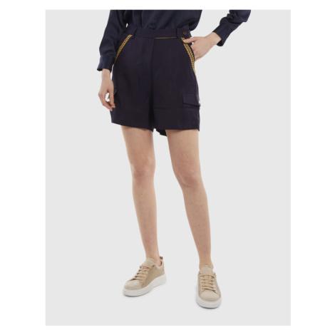 Šortky La Martina Woman Viscose Twill Shorts - Modrá