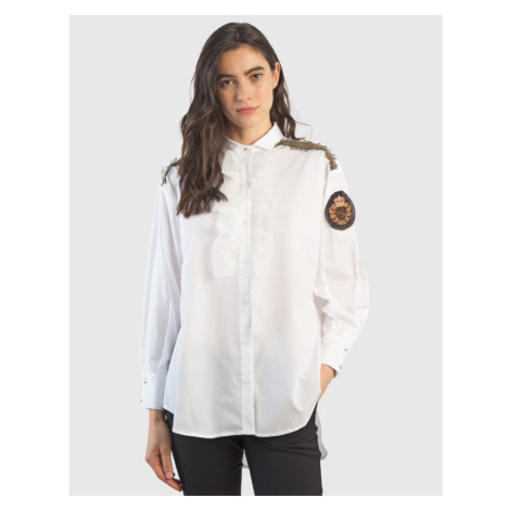 Košile La Martina Woman Cotton Popeline Shirt - Bílá