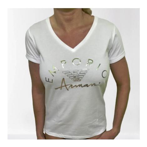 Dámské triko Emporio Armani 164334 0P291 bílá | bílá