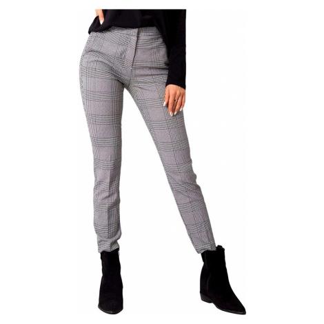 šedé dámské kárované kalhoty Rue Paris