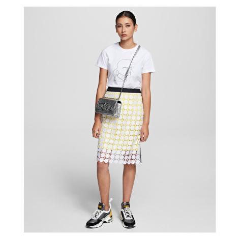 Sukně Karl Lagerfeld Karlcircle Lace Skirt - Bílá