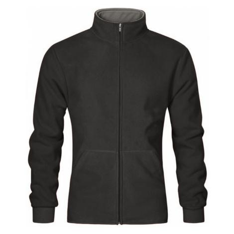 Pánská dvojitá fleece bunda P7971 - Graphite