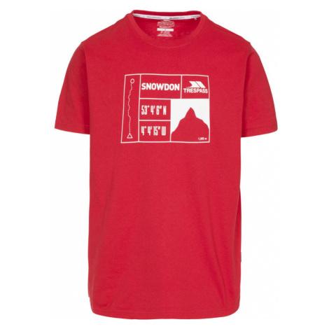 Trespass SNOWDON Pánské triko MATOTSO10018-RED RED
