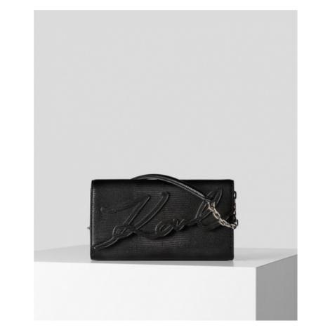 Kabelka Karl Lagerfeld K/Signature Baguette Tejus