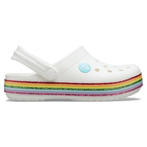 Crocs Crocband Rainbow Glitter Clg K White C6