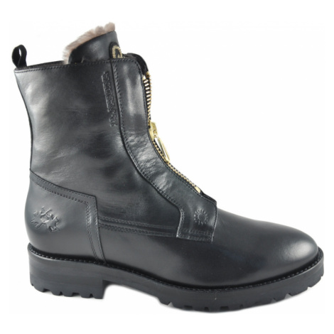 Kotníková Obuv La Martina Woman Boots Nappa Leather - Černá