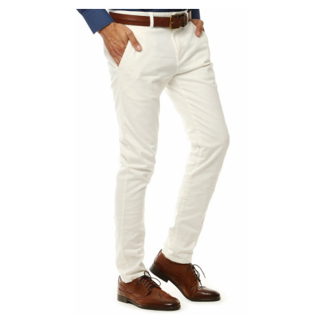 Men's white chino trousers UX2600 DStreet