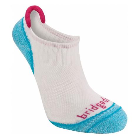 Dámské turistické ponožky Bridgedale Trailsport Ultra Light Cool Comfort No Show Turquoise