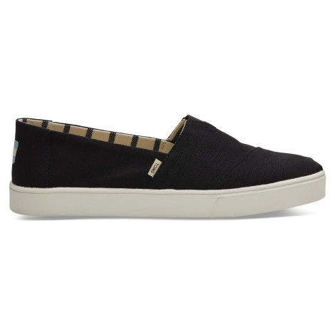 Black Heritage Canvas Men Alpargata Cupsole Toms