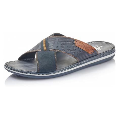 RIEKER, Pantofle  21098-14 modrá EU 45