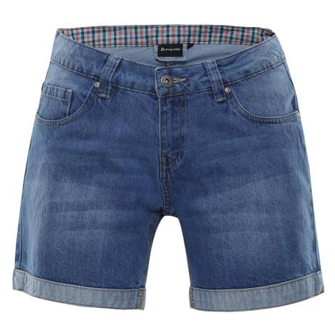 Dámské džínové šortky Alpine Pro GERYGA - světle modrá