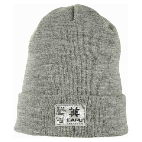 Čepice Capu 1702 B M - světle šedá