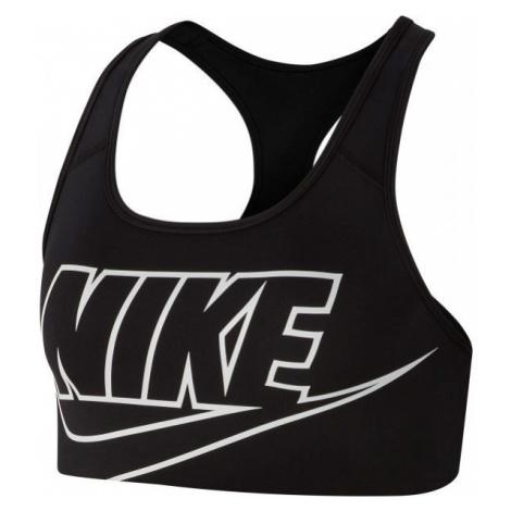 Nike SWOOSH FUTURA BRA černá - Dámská sportovní podprsenka
