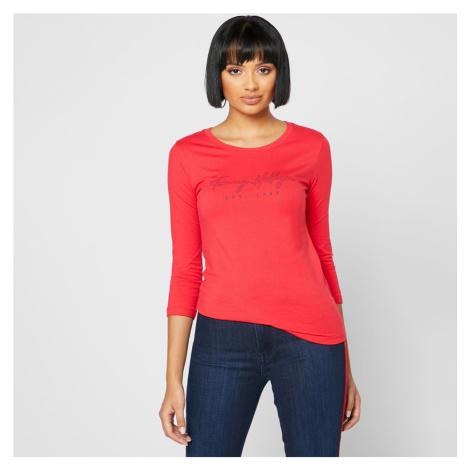 Tommy Hilfiger dámské červené tričko