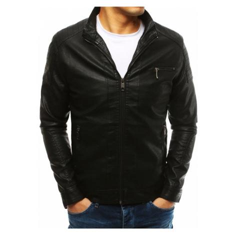 Buďchlap Zajímavá černá koženková bunda