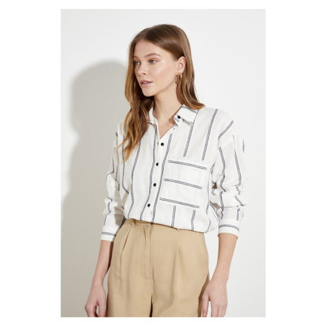 Trendyol Ekru Pocket Shirt